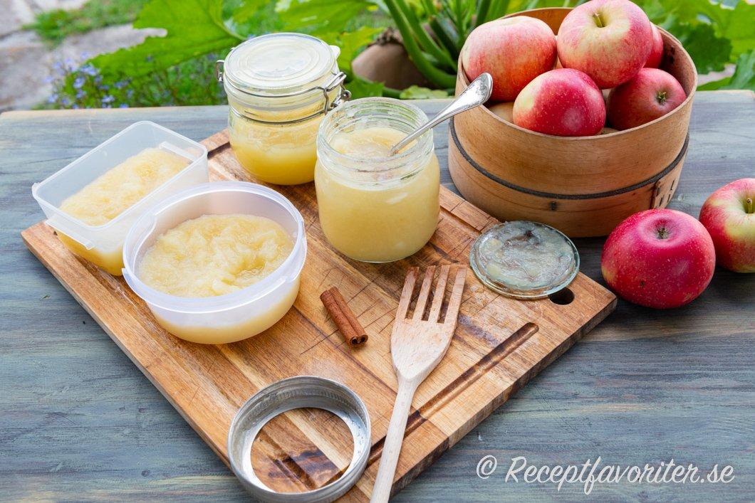 äppelmos utan askorbinsyra