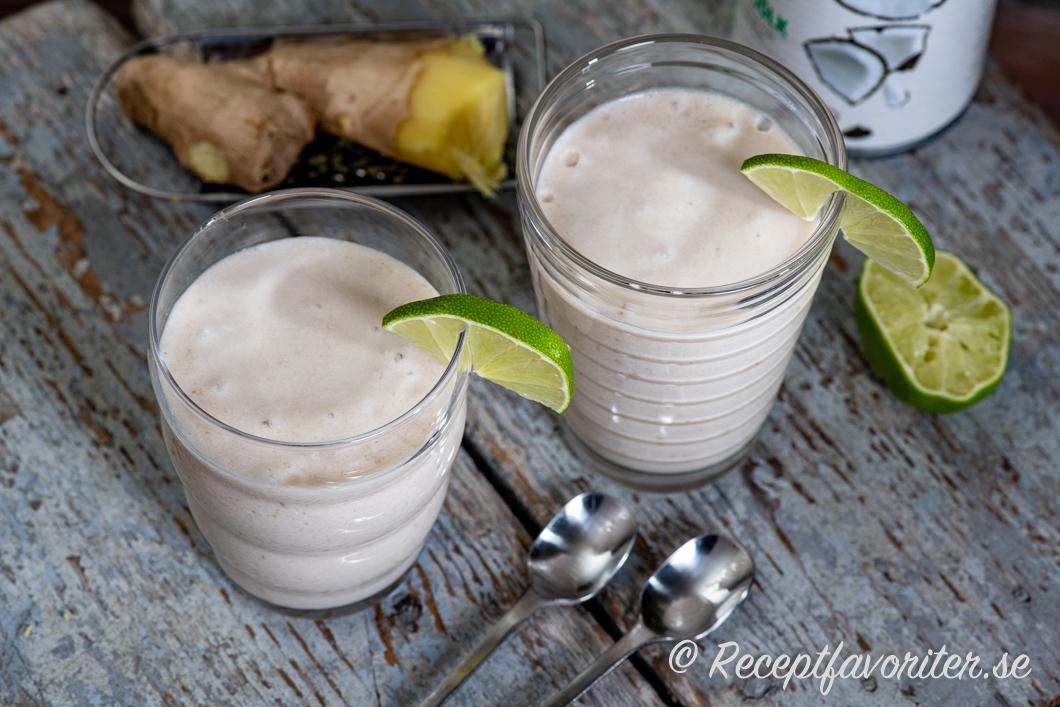 smoothie ingefära banan
