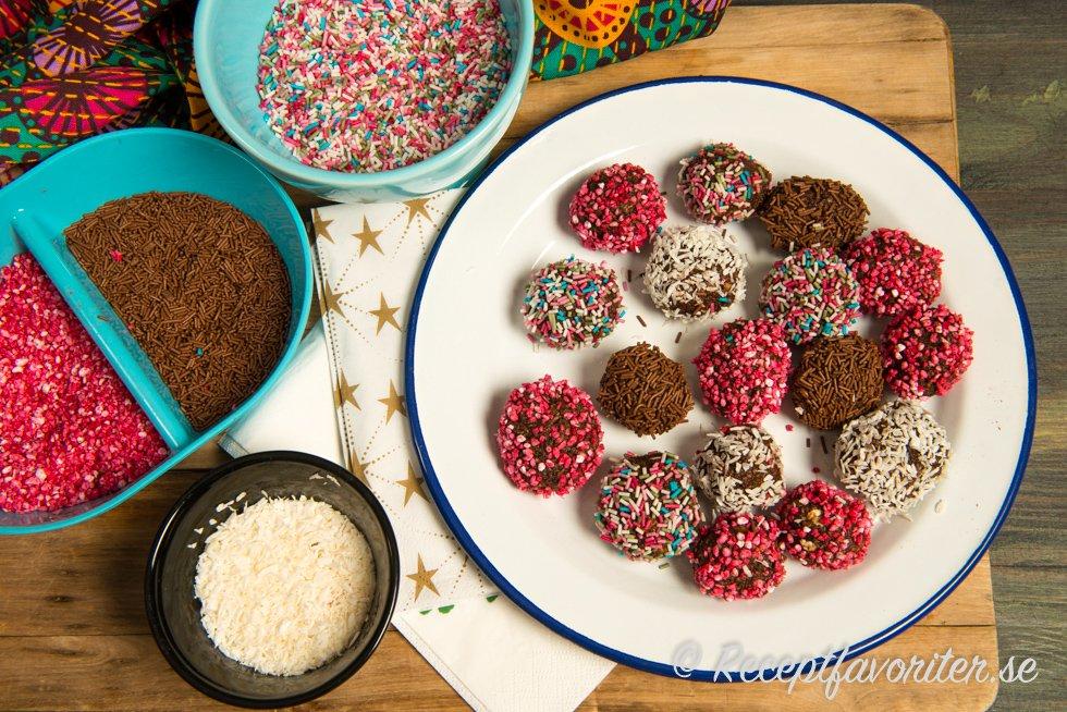 Chokladbollar - det mest sökta mat-ordet 2017 enligt Google.