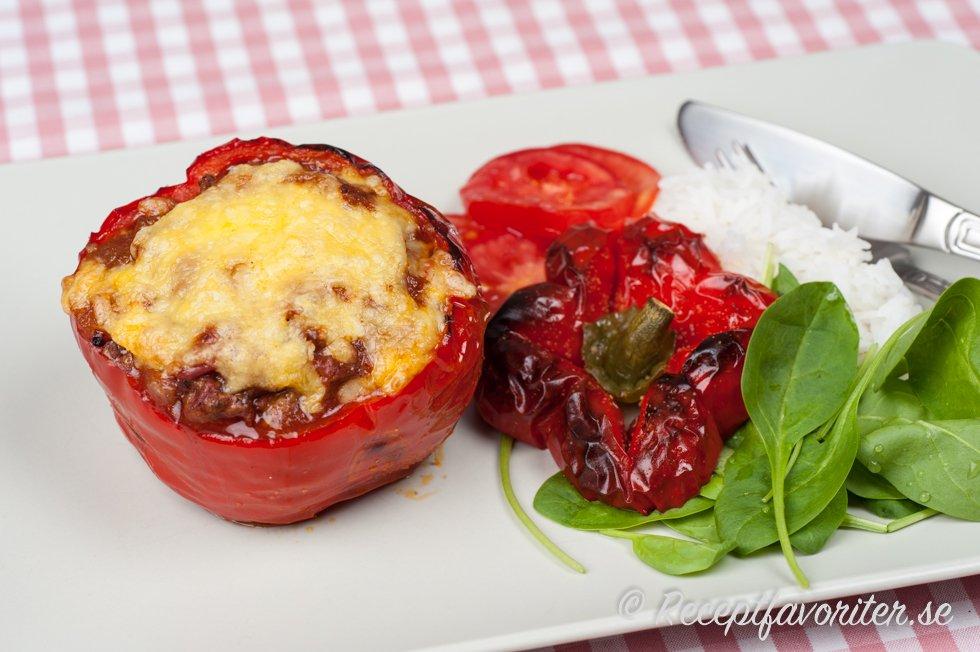 köttfärsfylld paprika lchf