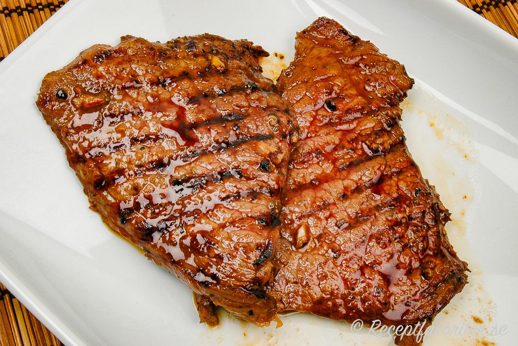Marinerad grillad biff