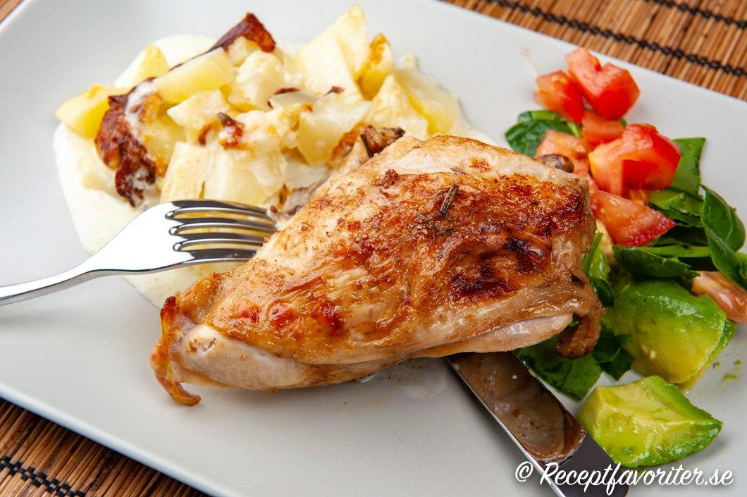 ugnsstekt halv kyckling