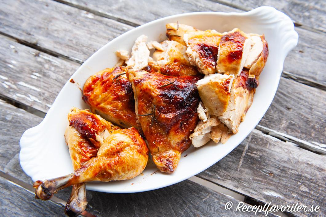stektid hel kyckling