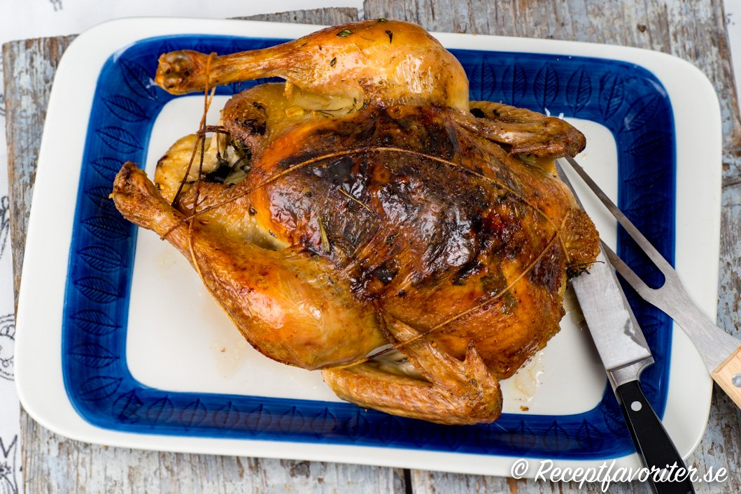 Helstekt kyckling eller ugnstekt kyckling