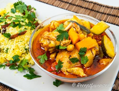 Marockansk kycklinggryta