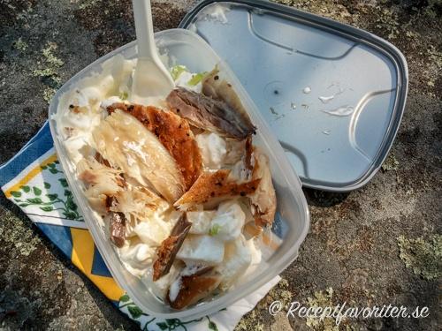 Potatissallad med makrill