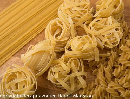 Pasta koktider för pasta, koka pasta