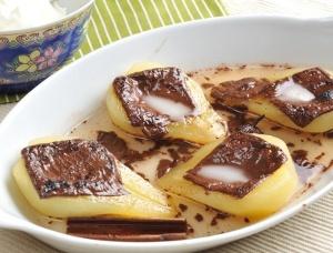 Päron med mintchoklad After Eight