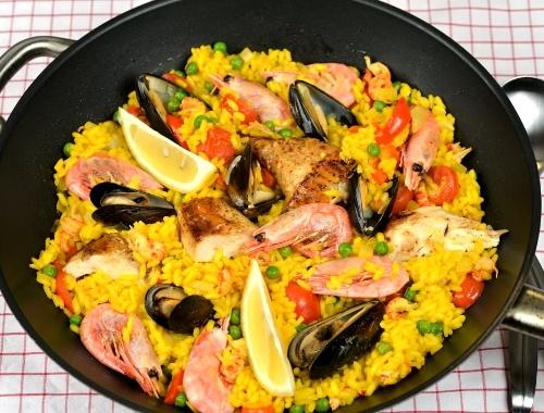 Paella paellarecept