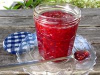 Röda vinbärssylt sylt på röda vinbär