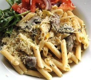 Pasta med filé och svamp