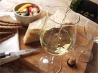 Vitt vin chardonnay