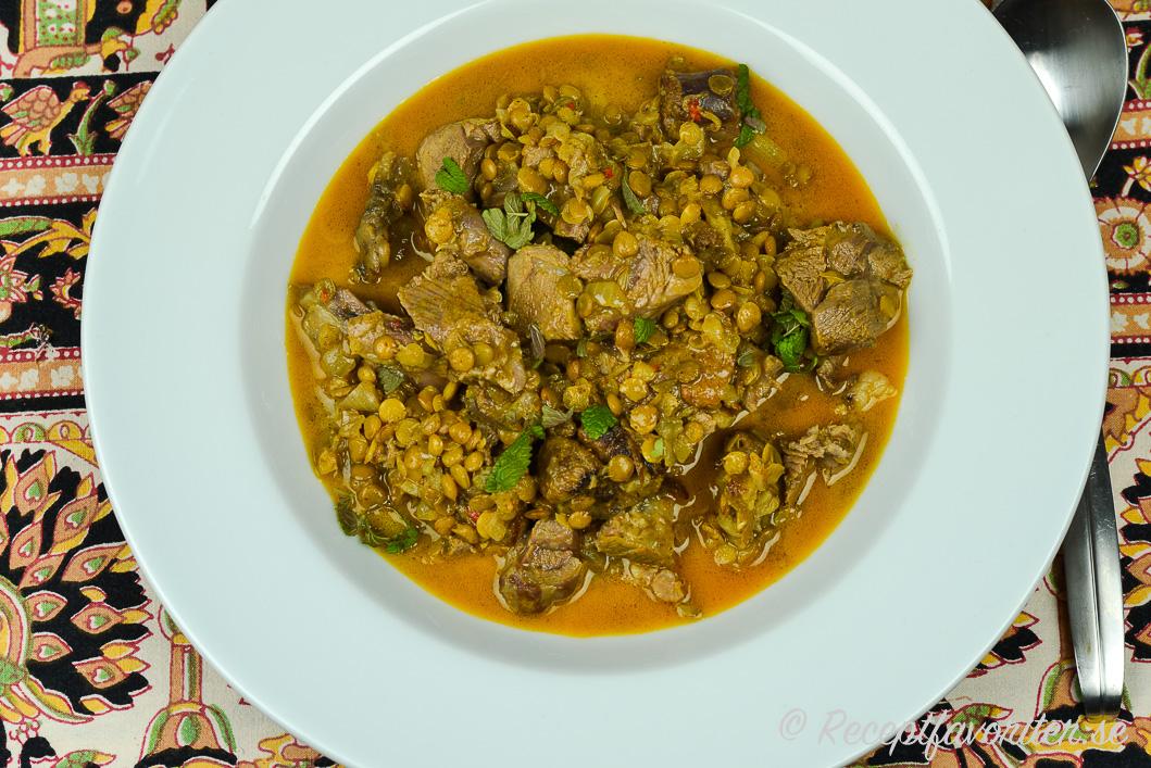 indisk lammgryta curry