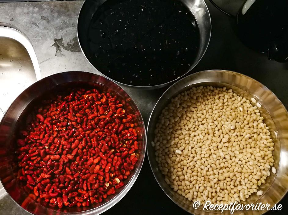 koktid svarta bönor