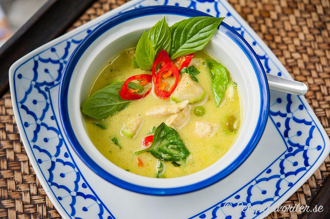 kyckling grön curry grädde