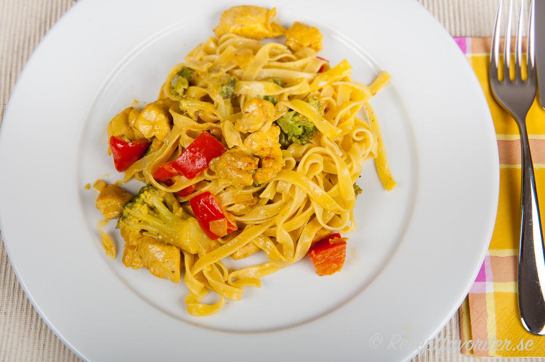 kyckling paprika pasta