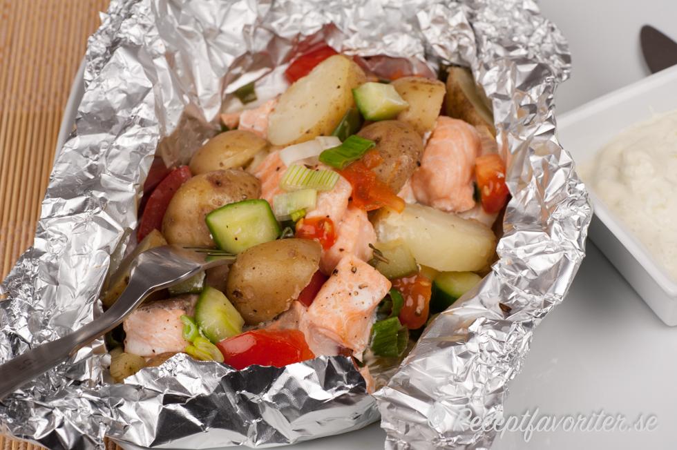 potatis folie grill recept