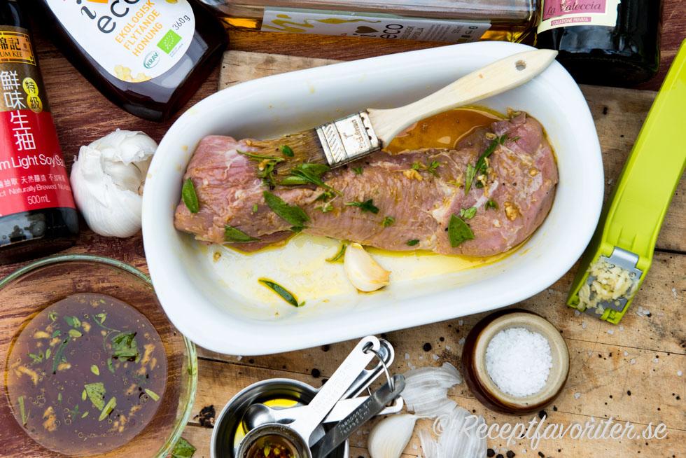 grillad fläskfile marinad