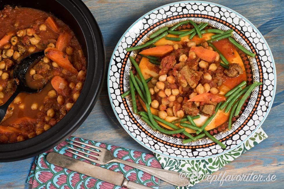 marockansk lammgryta med couscous