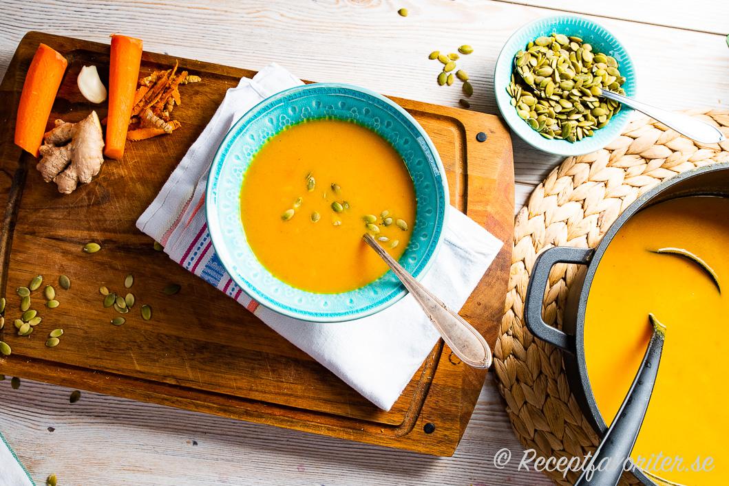 soppa morot potatis purjolök