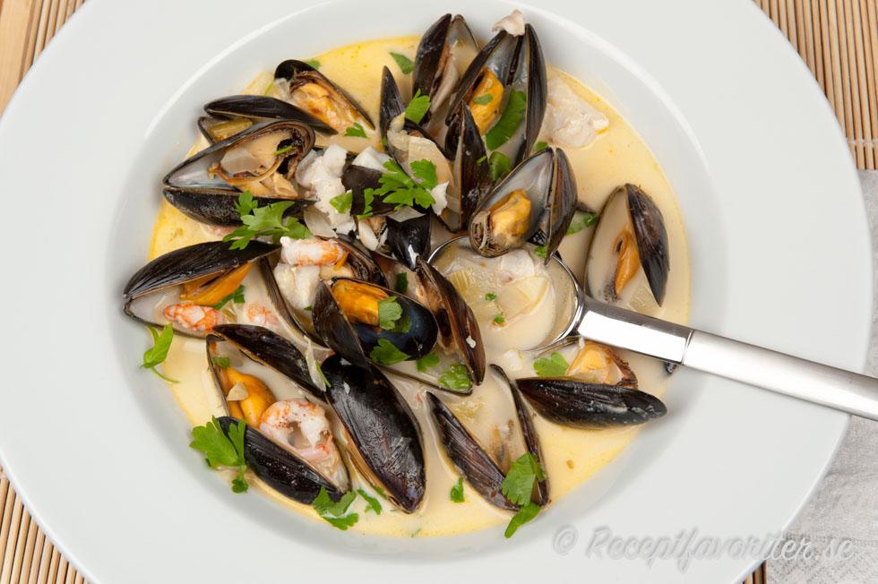 tillaga frysta musslor