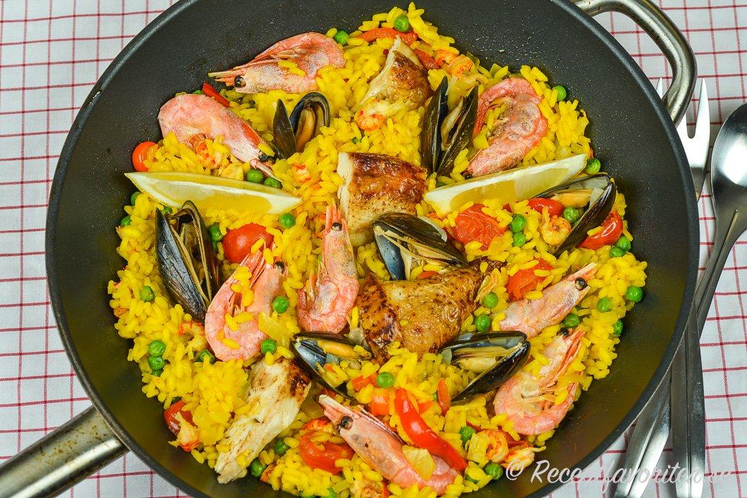 spanska paella recept