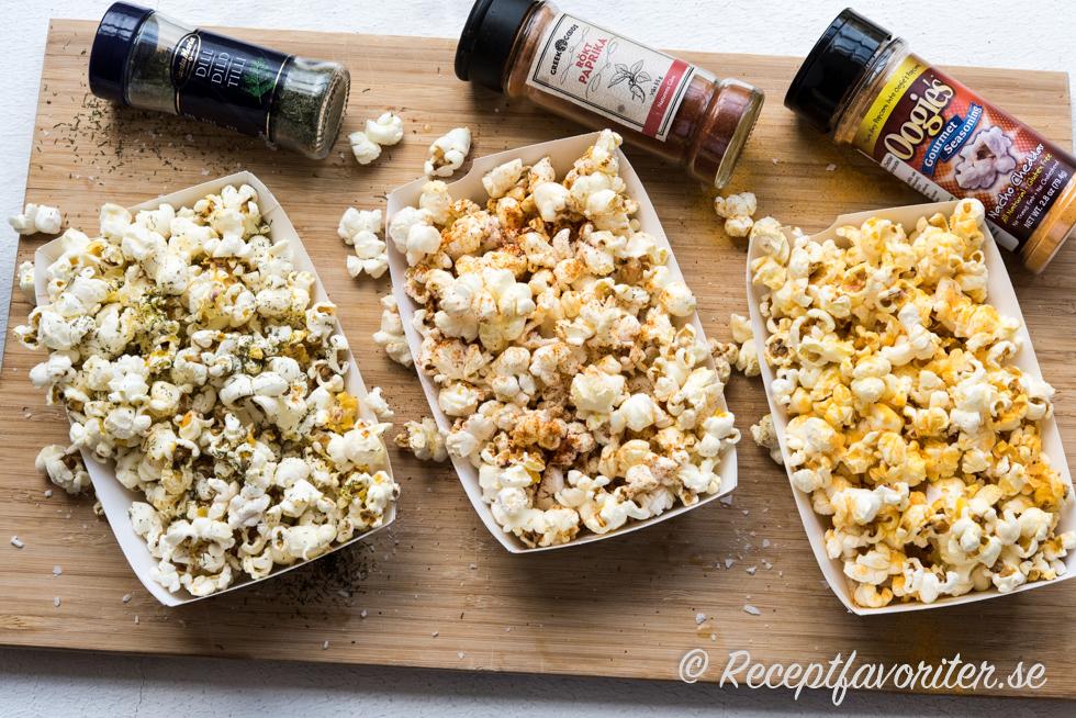 vilken olja till popcorn
