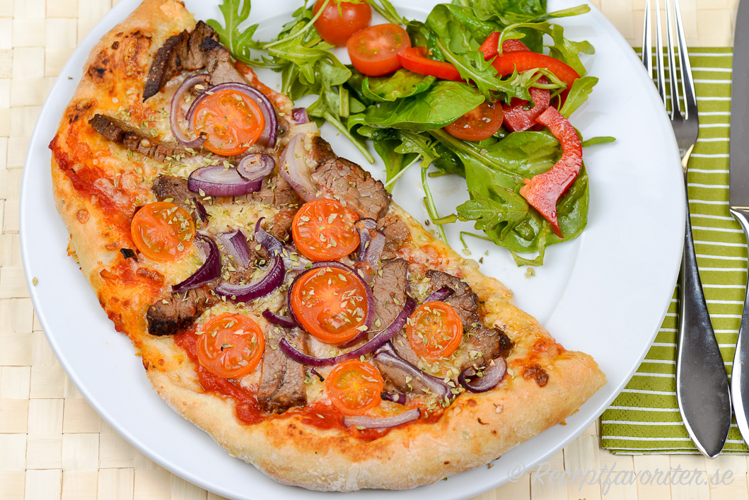 förslag till pizzafyllning recept