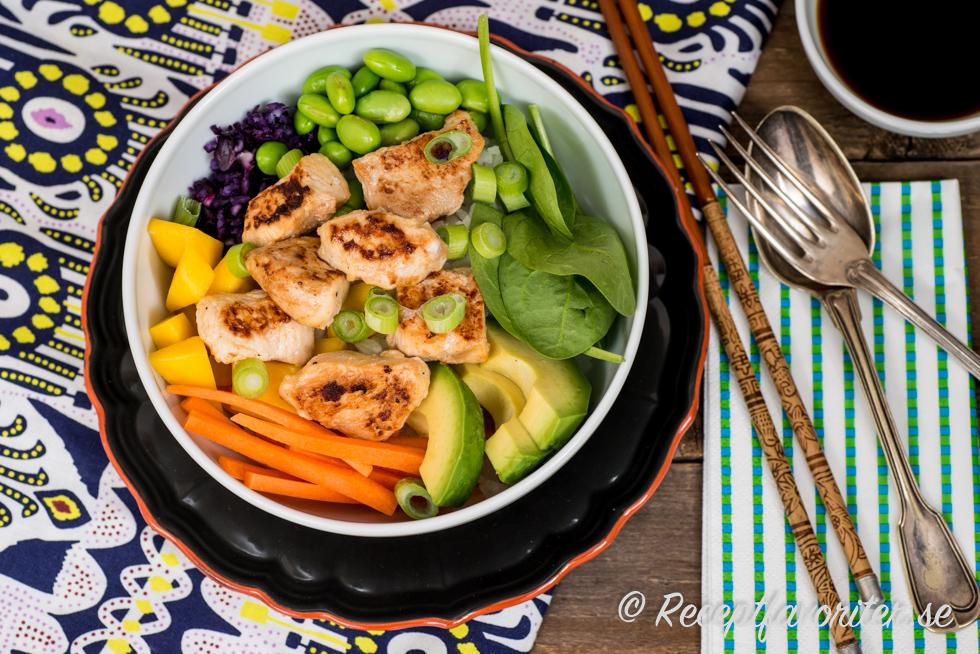 kyckling avokado recept