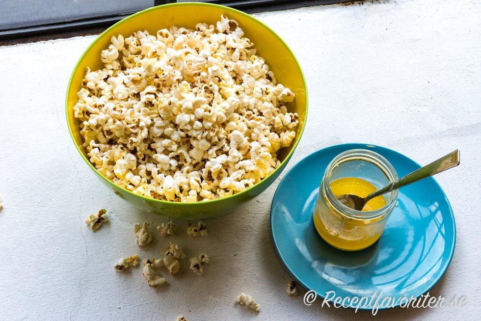 olja till popcorn