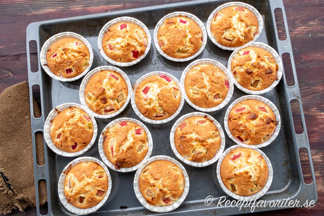 amerikanska muffins med vit choklad