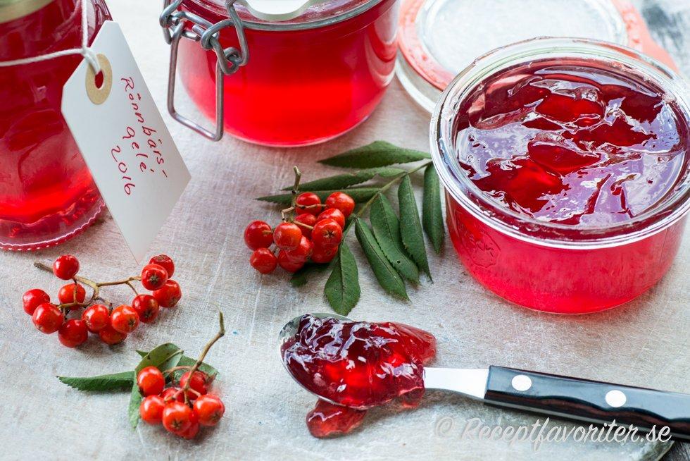 rönnbärsgele med syltsocker