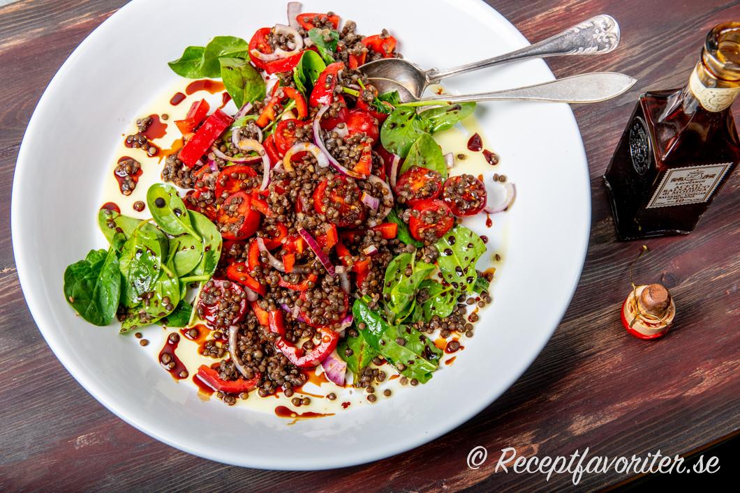 balsamvinäger sallad recept