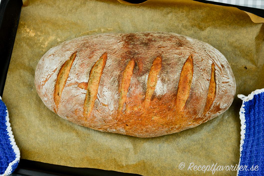 bröd med rågmjöl och vetemjöl