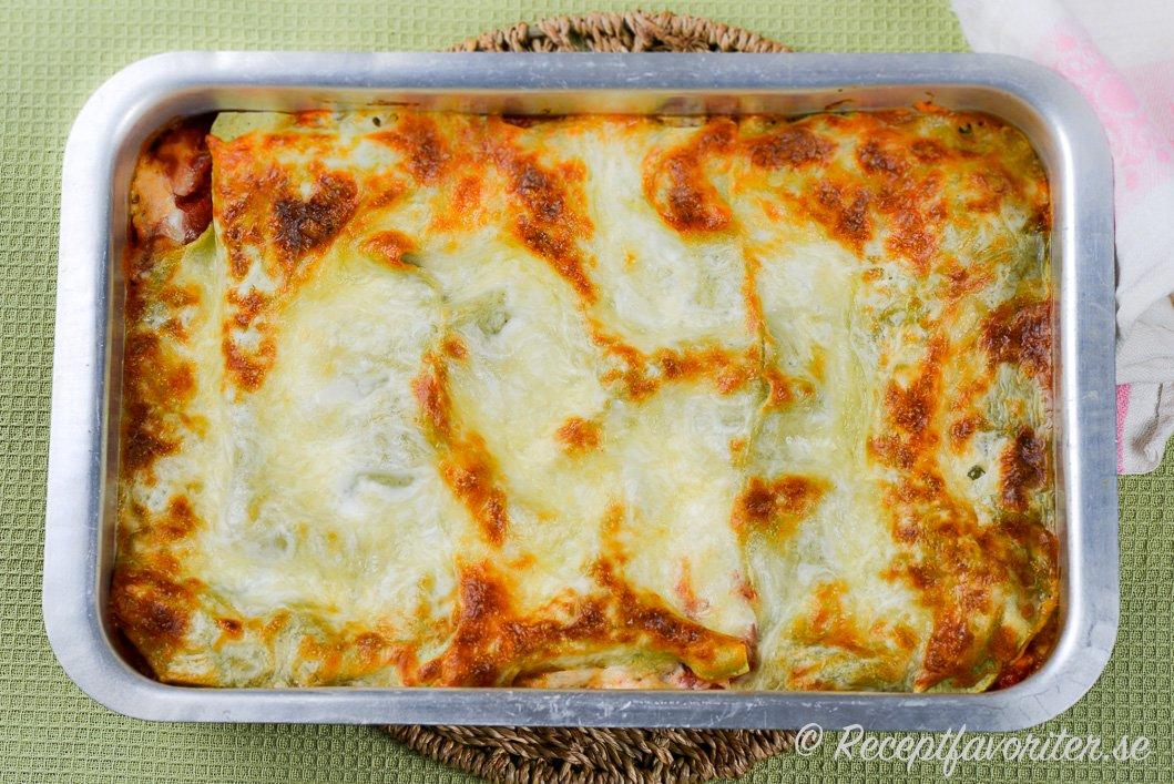 vegetarisk lasagne soltorkade tomater