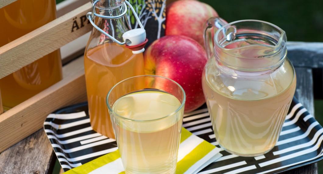 Hemgjord äppeldricka