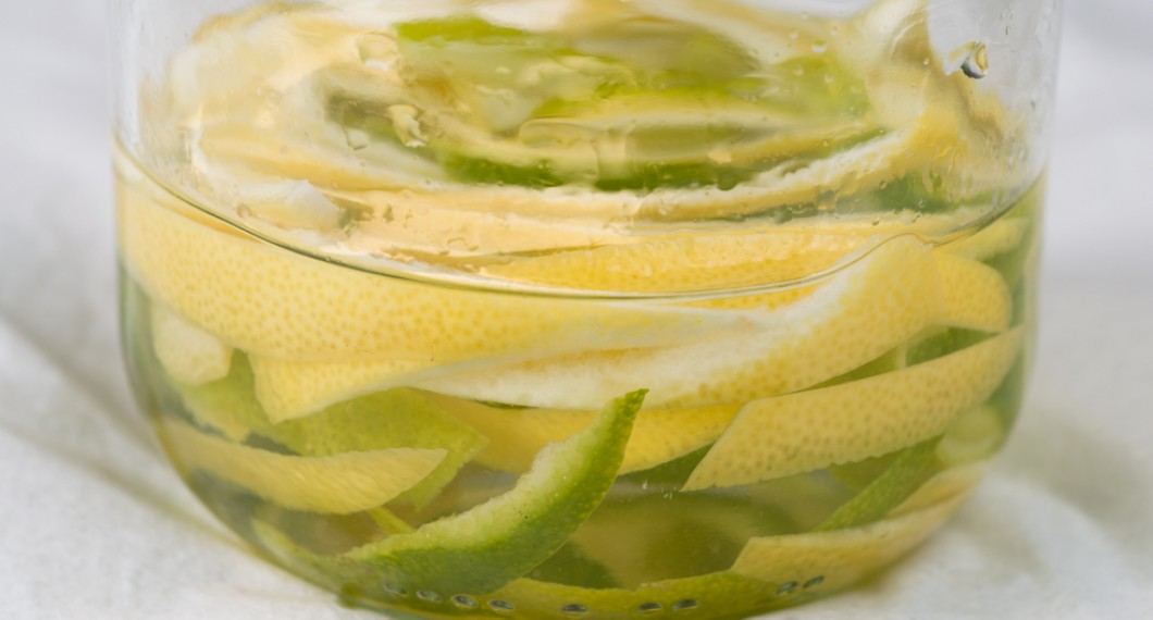 Snaps med lime och citron