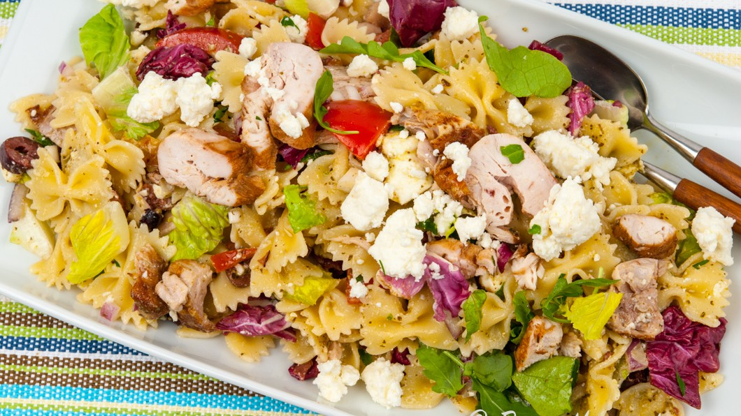 pasta med pesto och kyckling