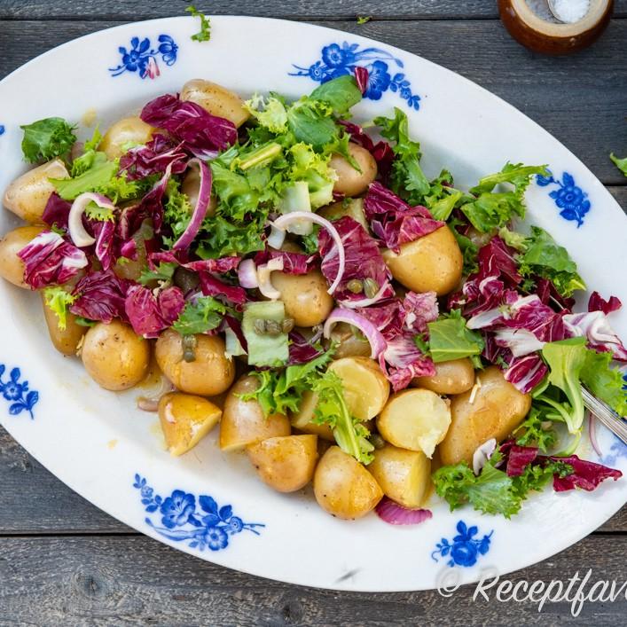 sallad med kall potatis