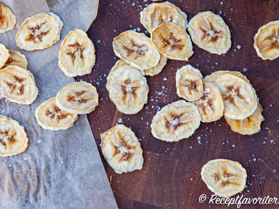 torkad banan recept
