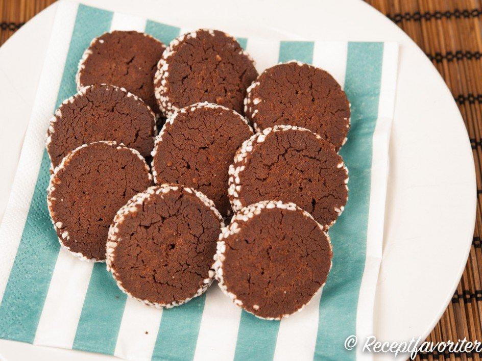 mördegskakor med choklad