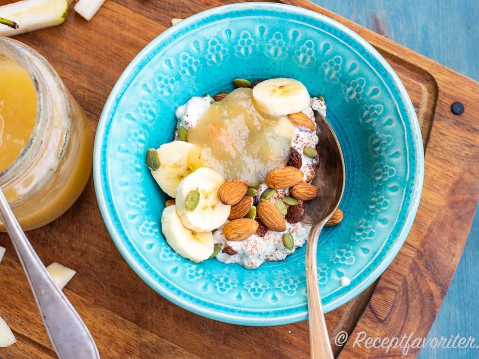 kall gröt med yoghurt