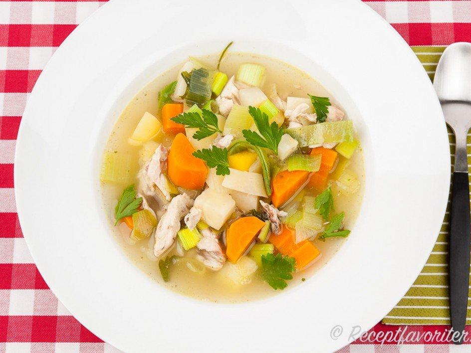 grönsaker soppa recept