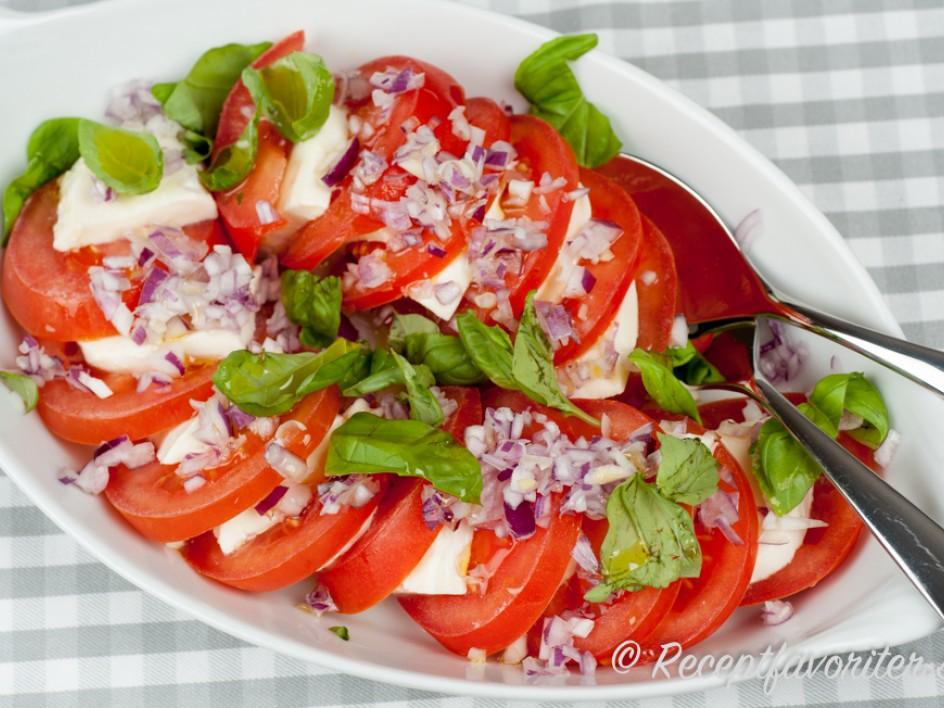 recept mozzarella tomat