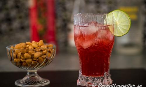 Absolut citron och tranbärsdrink