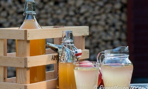 Hemgjord äppelsaft du späder med vatten till önskad smak