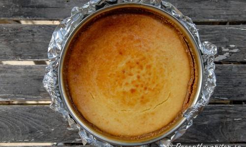 Bakad cheesecake i springform