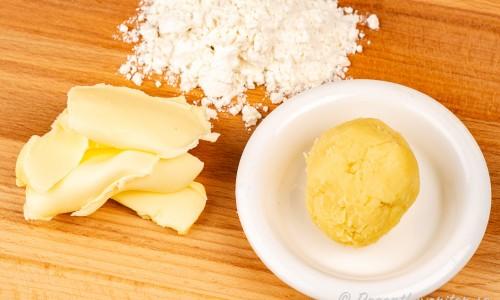 Beurre manié eller roux mjölredning till sås