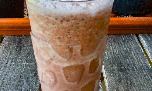 Chokladmilkshake i glas