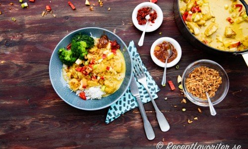 Currygrytan med tillbehör